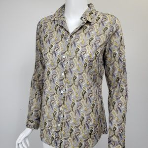 J Crew Perfect Shirt Paisley Print